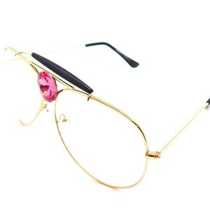 PANTHER POWER PINK ROSE CLEAR AVIATORS NEW